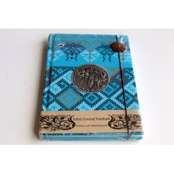 Diary notebook fabric Thailand with elephant 19x14 cm- THAI116