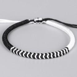 Tibetan happiness bracelet wine white / black handmade Buddhism