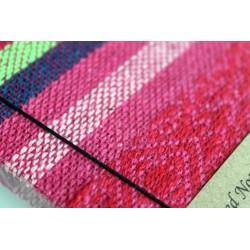 Diary fabric Thailand with elephant 15x11 cm - lined - THAI300