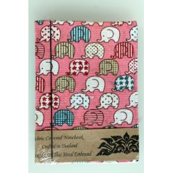 2. Wahl: Diary fabric Thailand with elephant 15x11 cm - lined - THAI300