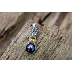 Silberanhänger mit Perlen