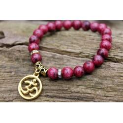 Rhodonit Armband Perlenarmband Yogaarmband Meditation 8 mm Steinperlen