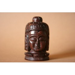 Holzdose Buddha geschnitzt (klein)