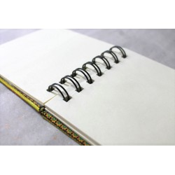 Notebook fabric Thailand with elephant spiral binding 11x11 cm - THAI-S-037