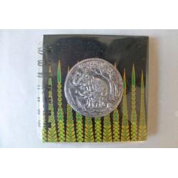 Notizbuch Stoff Thailand mit Elefant Spiralbindung 11x11 cm - THAI-S-046