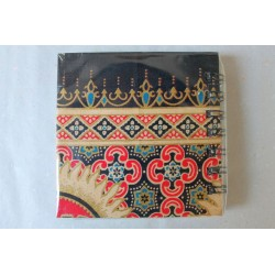 Notebook fabric Thailand with elephant spiral binding 11x11 cm - THAI-S-056