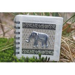Notebook natural fiber Thailand elephant spiral binding 11x11 cm