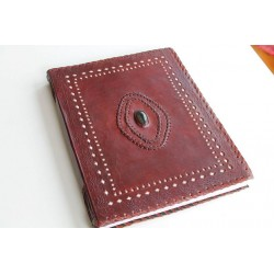 2. Wahl: Hochzeitsbuch / Lederalbum mit Stein 34x26 cm