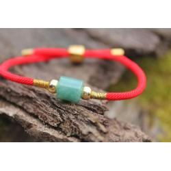 Jade Armband in Rot Erdung und Meditation