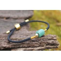 Jade Armband in Schwarz Erdung und Meditation