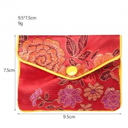 Jewelry packaging with embroidery Japanese style silk pouch