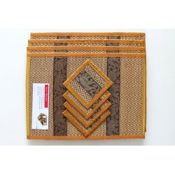 4 place mat including coaster gold