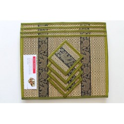 copy of 4 place mat including coaster moss green
