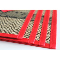 4 place mat including coaste red