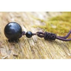 copy of Obsidian Necklace Obsidian Pendant Protection Balance Grounding Meditation Talisman