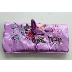 Jewelery pouch jewelery storage made of kusty silk, Rosa