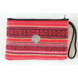 Pouch pouch made of fabric with elephant - BÖRSE820