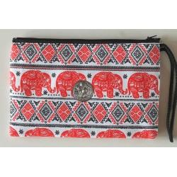Purse / toiletry bag elephant made of fabric
