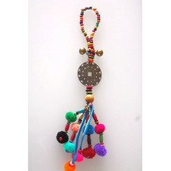 Colorful hanging decoration Thailand with Chinese zodiac signs 35 cm