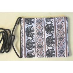 Simple neck pouch chest pocket fabric Thailand elephant