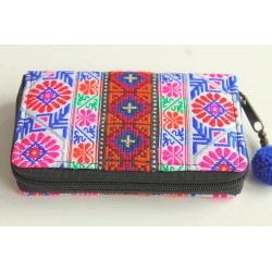 copy of Purse Wallet Purse medium-sized with Hmong fabric