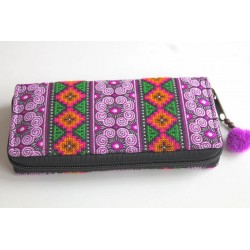 copy of Purse Wallet Purse big with Hmong fabric