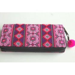 Geldbörse Brieftasche Portemonnaie groß Hmong Stoff - BÖRSE660