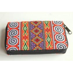 Geldbörse Brieftasche Portemonnaie mittelgroß Hmong Stoff - BÖRSE669