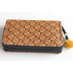 Geldbörse Brieftasche Portemonnaie mittelgroß Natur Bambus - BÖRSE672