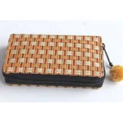 Geldbörse Brieftasche Portemonnaie mittelgroß Natur Bambus - BÖRSE674