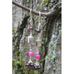 Silberohrringe rosa Turmalin