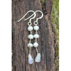 B-Ware: Silberohrring mit echten Perlen