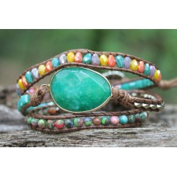 copy of Wrap bracelet triple amazonite for balance and calming
