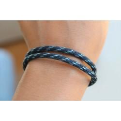 Luck bracelet blue handmade sliding knot friendship bracelet