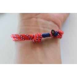 Luck bracelet red handmade sliding knot friendship bracelet