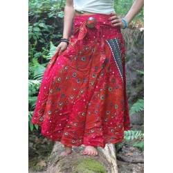 Skirt summer dress with coconut buckle