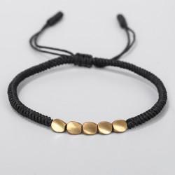 copy of Tibetan luck bracelet handmade Buddhism in black