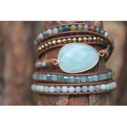 Multilayer Wrap Bracelet Wrap Bracelet Amazonite for Harmony Boho Friendship Bracelet