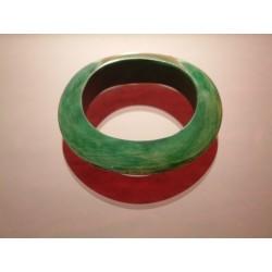 Holzarmreif Grün
