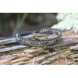 Elegant bracelet in Bohemian style with small stone beads