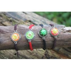 Flower bracelet bracelet with dried flower in resin flower bracelet