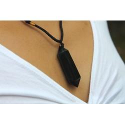 Necklace obsidian lucky charm protection balance grounding meditation talisman obsidian chain