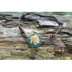 copy of Flower bracelet bracelet with dried flower in resin flower bracelet