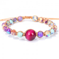 copy of Stone pearl bracelet with a large bluish pearl.