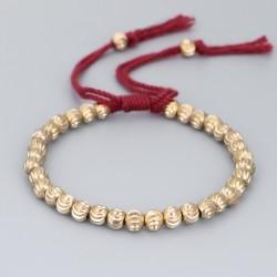 Tibetan bracelet brass beads Buddhism happiness bracelet