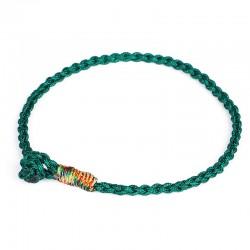 Tibetisches Glücksarmband Grün geflochten