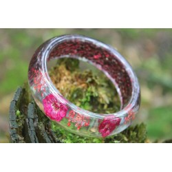 Resin / resin bangle with flowers