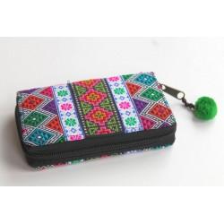 Geldbörse Brieftasche Portemonnaie groß Hmong Stoff - BÖRSE681