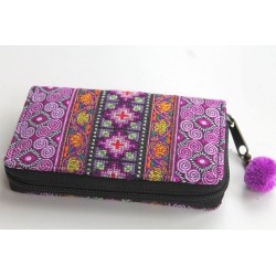 Geldbörse Brieftasche Portemonnaie groß Hmong Stoff - BÖRSE685