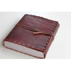 2. Wahl: Notizbuch mit Echtledereinband Randverzierung 18x14 cm